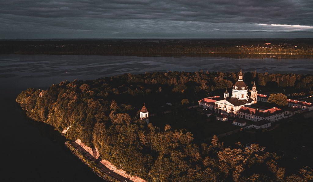pažaislio vienuolynas dronas
