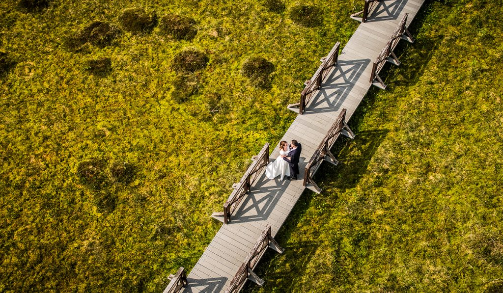 vestuvės dronas